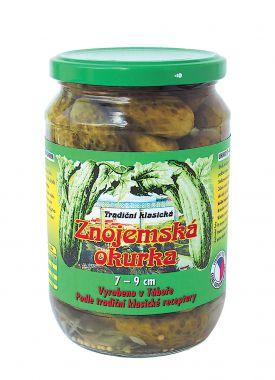 Tradiční klasická znojemská okurka 7 – 9 cm 660 g / 365 g