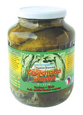 Tradiční klasická znojemská okurka 9 – 12 cm 1500 g / 850 g