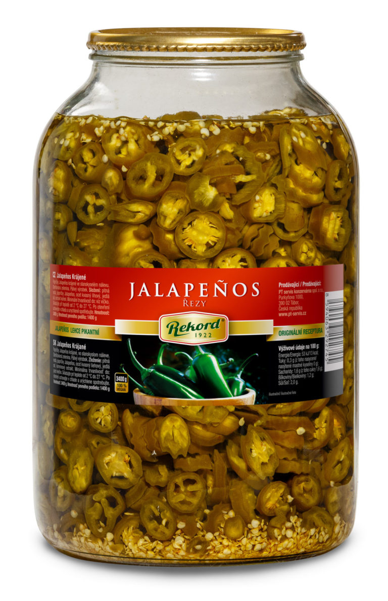 Jalapenos Krajene Rezy 3400g Web | PT Servis