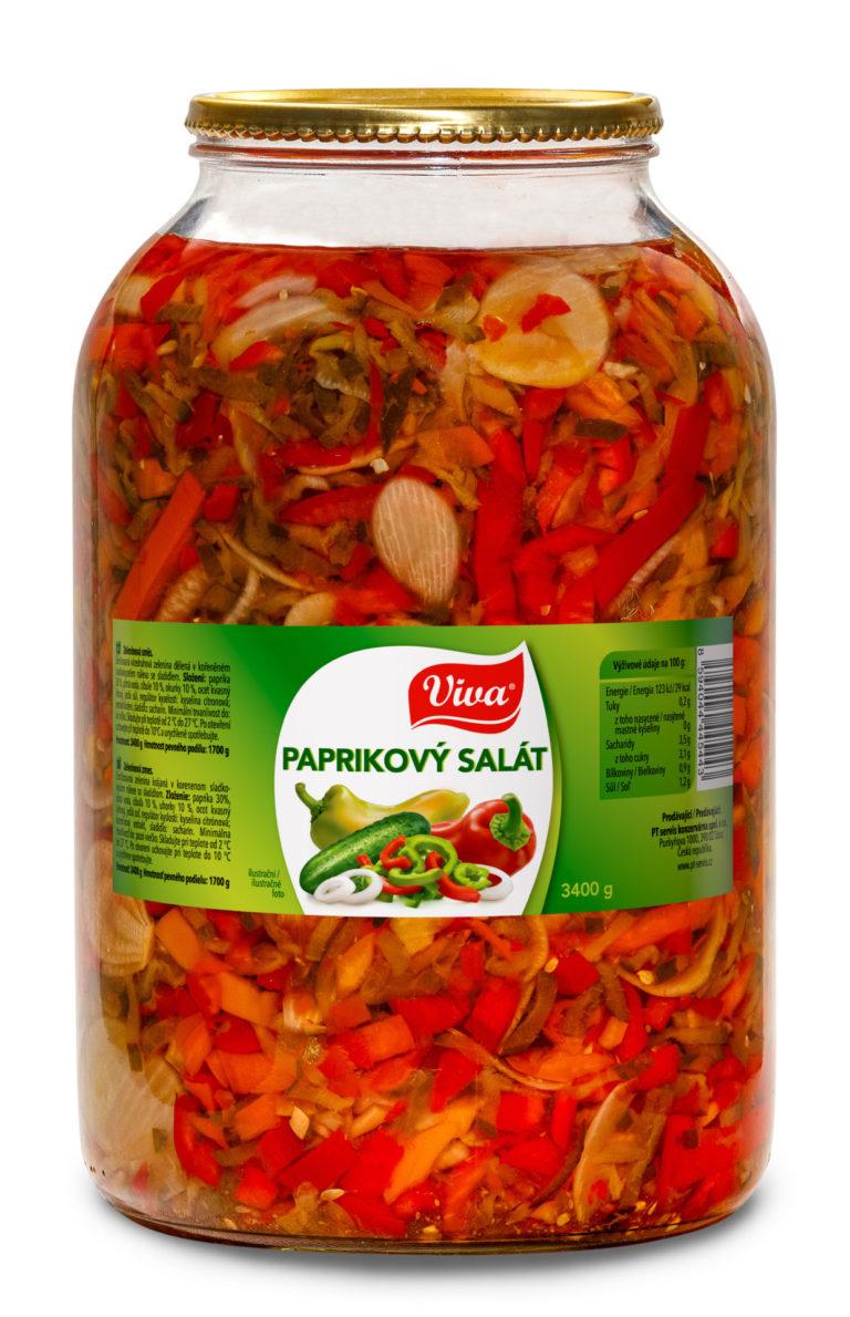 Viva Paprikovy Salat 3400g Web | PT Servis