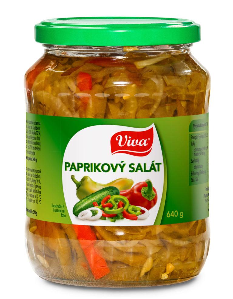 Viva Paprikovy Salat 640g Web | PT Servis