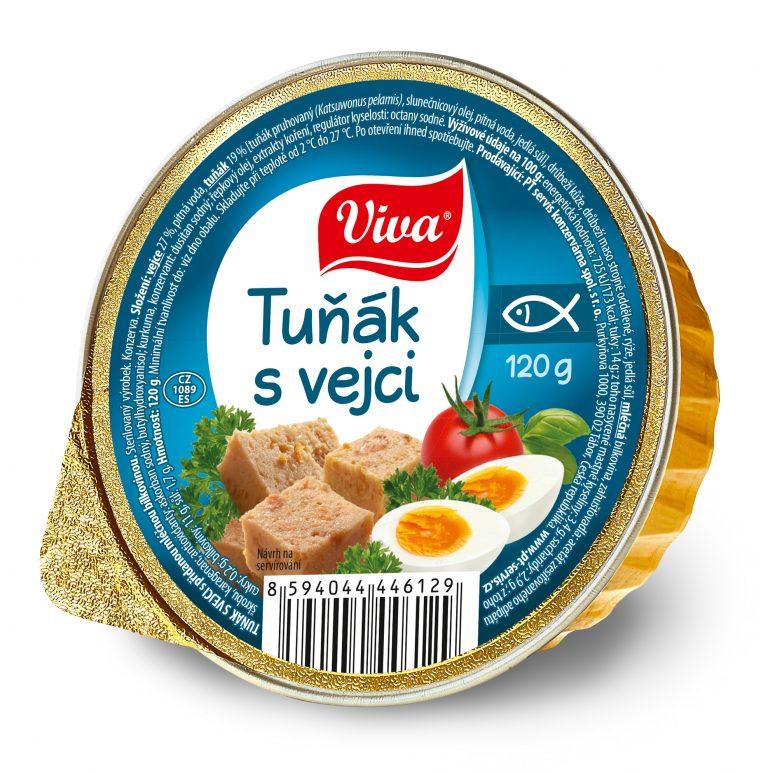 Viva Tunak S Vejci 120g Web | PT Servis