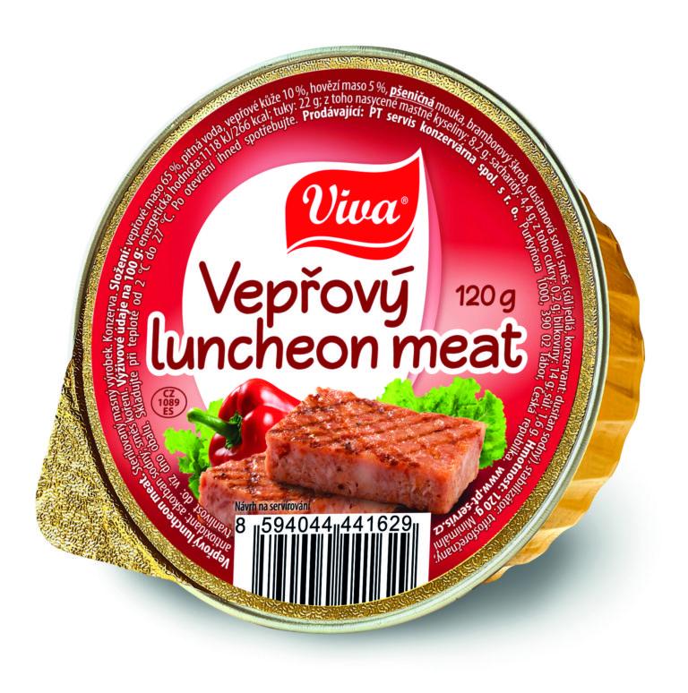 Viva Veprovy Luncheon Meat 120g Cmyk | PT Servis