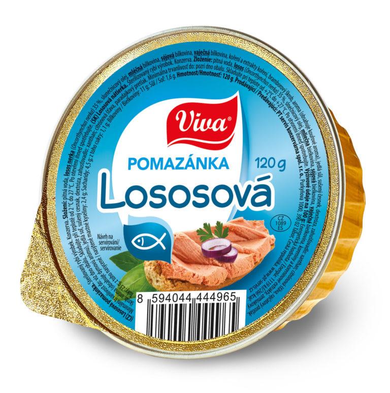 Viva Pomazánka Lososova 120g Web | PT Servis